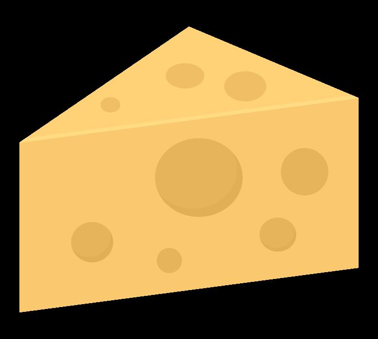 カットされたチーズのイラスト