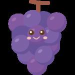 かわいい葡萄のキャラクターのイラスト