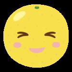かわいいグレープフルーツのキャラクターのイラスト