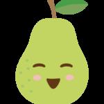 かわいい洋梨/ラフランスのキャラクターのイラスト