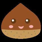 かわいい栗のキャラクターのイラスト