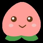 かわいい桃のキャラクターのイラスト