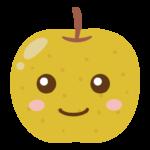 かわいい梨のキャラクターのイラスト