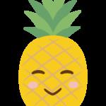 かわいいパイナップルのキャラクターのイラスト