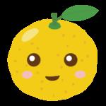 かわいい柚子のキャラクターのイラスト