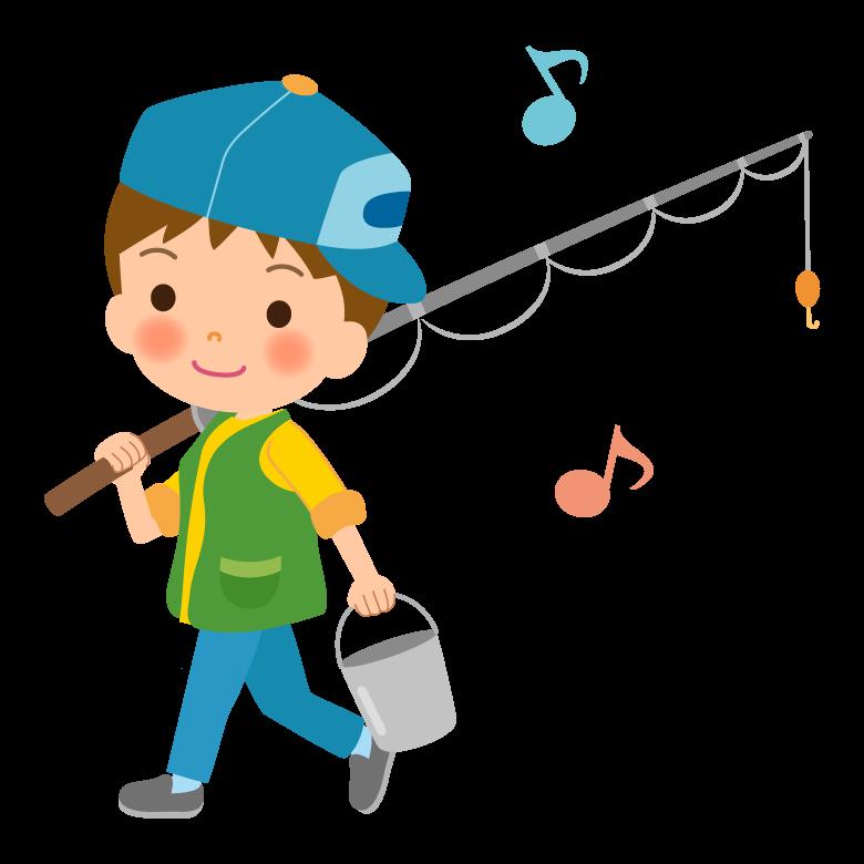 釣りに行く子どものイラスト