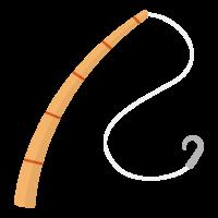 シンプルな釣り竿のイラスト