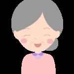 笑顔のおばあちゃんのイラスト02