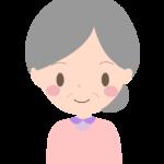 笑顔のおばあちゃんのイラスト03