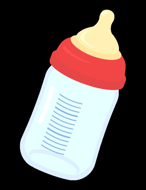 哺乳瓶のイラスト