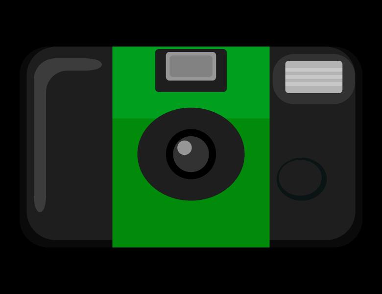 使い捨てカメラのイラスト