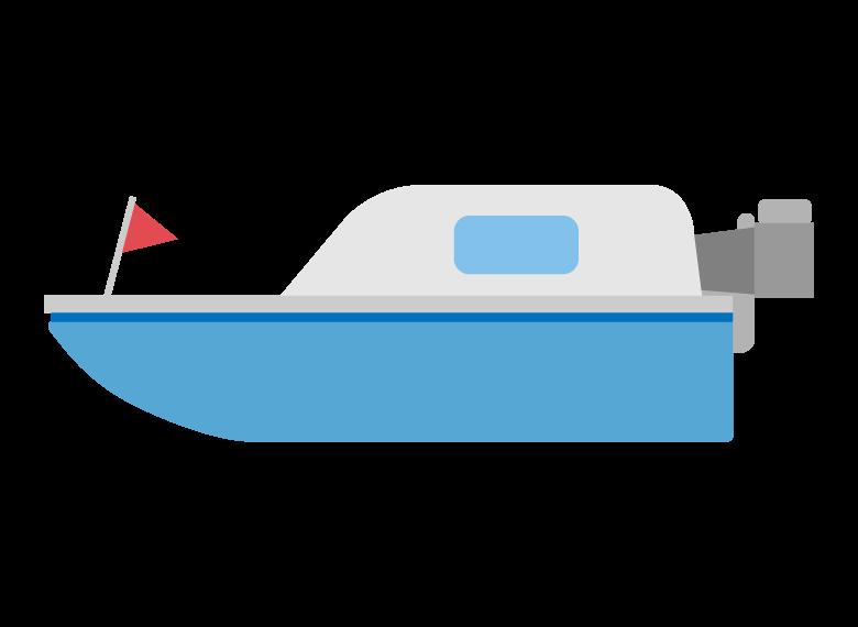 モーターボートのイラスト