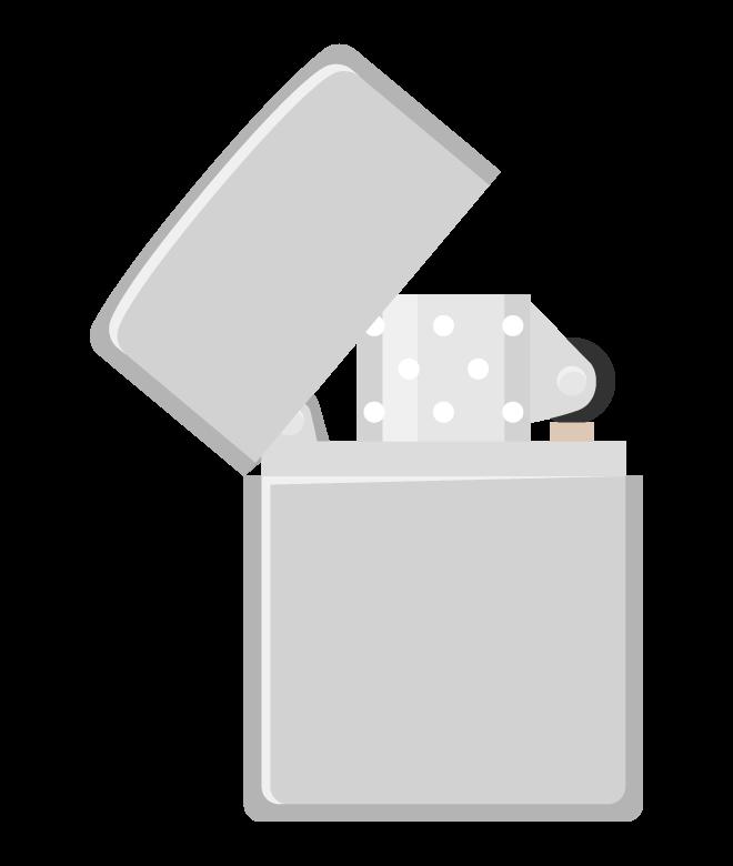 オイルライターのイラスト