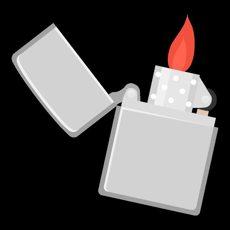 火とオイルライターのイラスト
