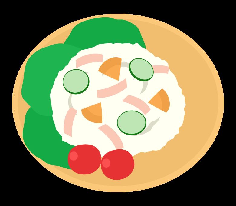 ポテトサラダのイラスト02