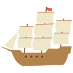 帆船のイラスト02