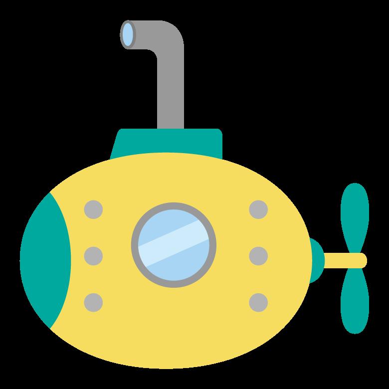 かわいい潜水艦のイラスト