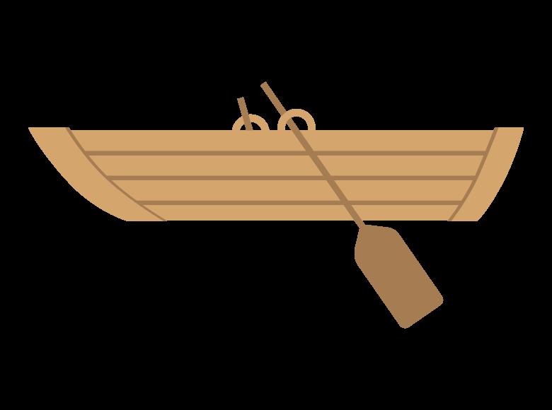 木のボートのイラスト