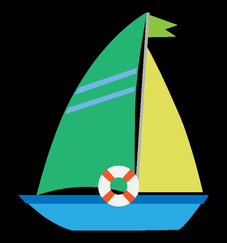 ヨット/マリンのイラスト