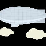 大型の飛行船のイラスト