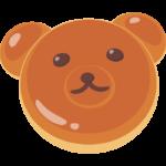かわいいクマの動物パンのイラスト