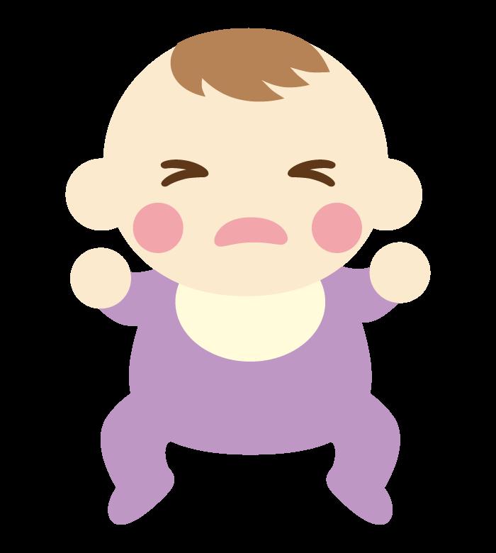 泣いている赤ちゃんのイラスト02