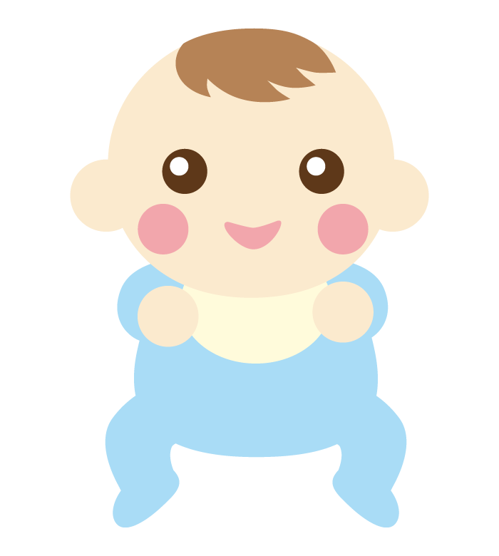 笑顔/ご機嫌な赤ちゃんのイラスト