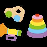 赤ちゃんのおもちゃのイラスト