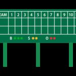 野球場のスコアボードのイラスト