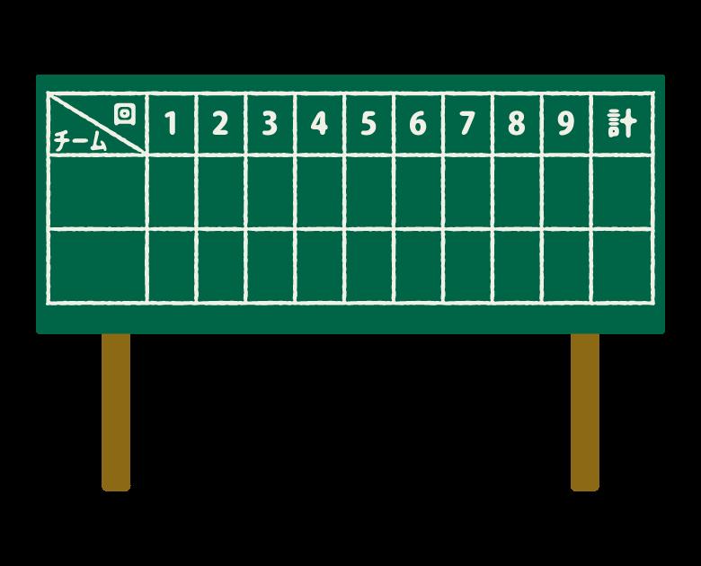 野球場のスコアボードのイラスト02