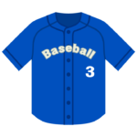 野球のユニフォームのイラスト
