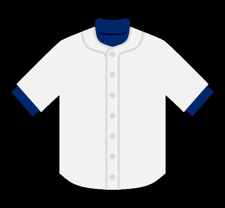 白い野球のユニフォームのイラスト