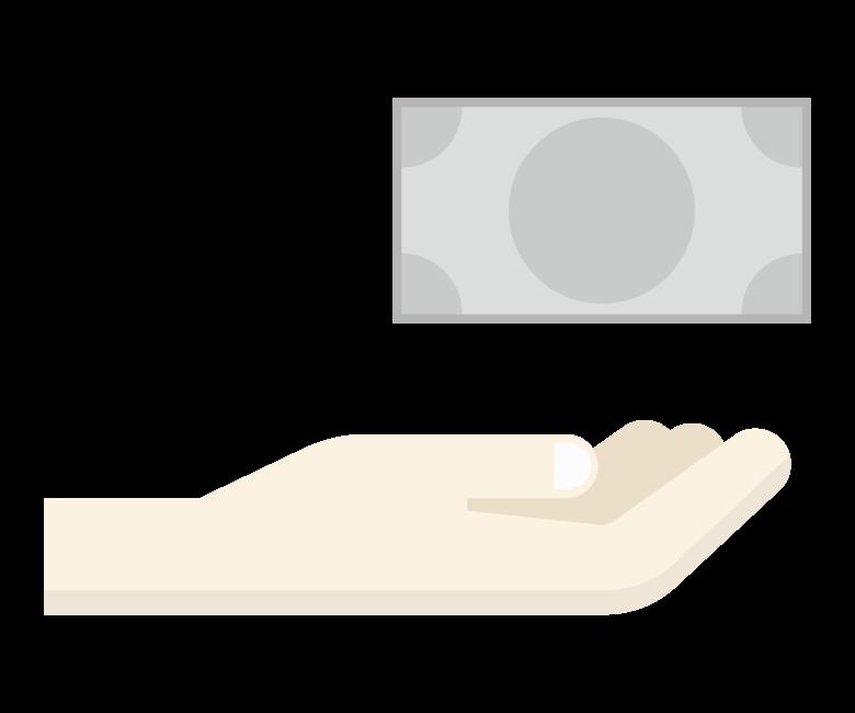紙幣/お金/資産運用のイラスト
