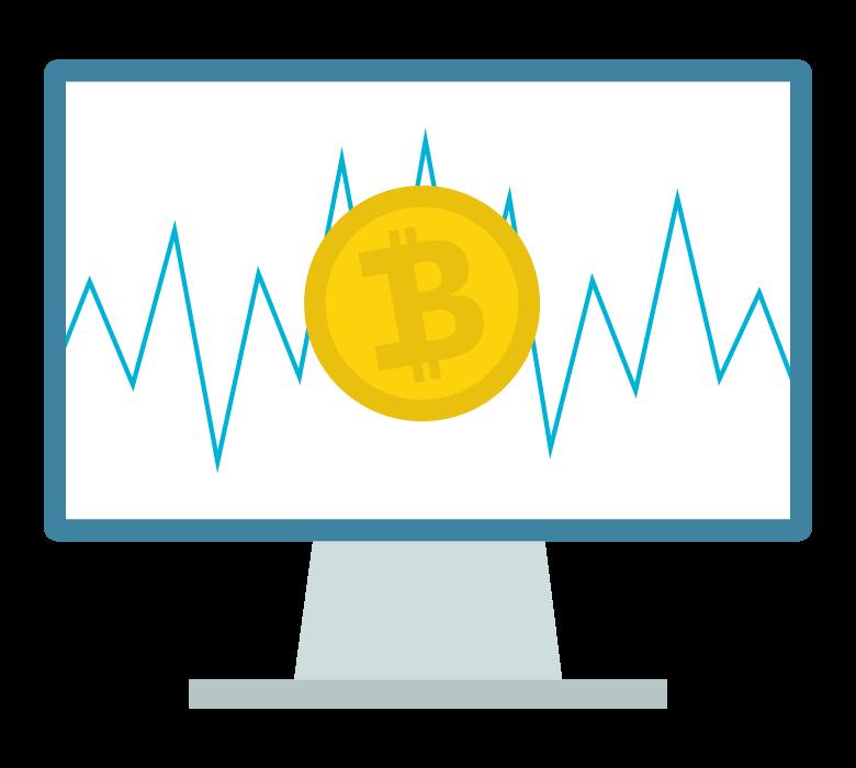 ビットコインのチャートのイラスト