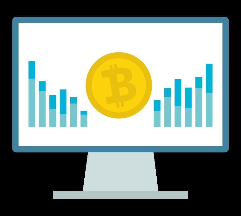 ビットコインの変動のイラスト
