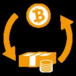 ビットコインとお金のイラスト