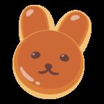 かわいいうさぎの動物パンのイラスト