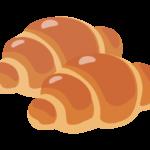 バターロール/ロールパン(2個)のイラスト