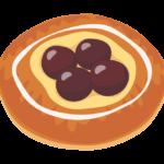 フルーツのデニッシュパンのイラスト