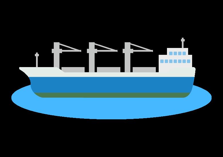 貨物船/海の物流のイラスト