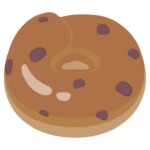 チョコベーグルのイラスト