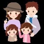 家族で旅行/お出かけのイラスト