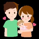 夫婦と赤ちゃんのイラスト