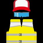 釣りベスト/帽子/サングラスのイラスト03