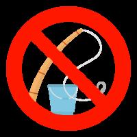 釣り禁止のイラスト02