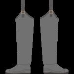 釣り用のブーツ/ヒップウェーダーのイラスト