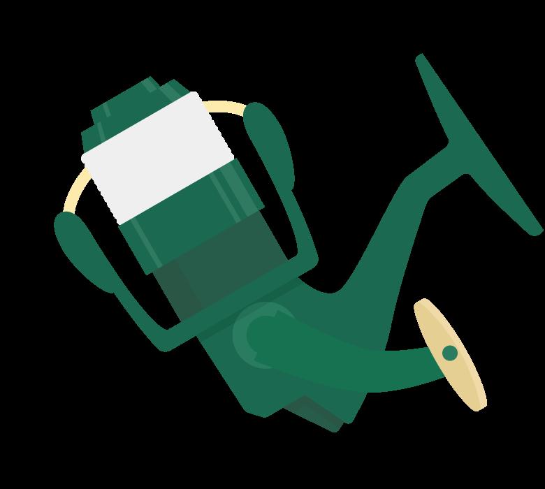釣りのリールのイラスト
