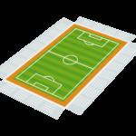 サッカースタジアムのイラスト