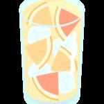 グレープフルーツサワーのイラスト