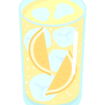 レモンサワーのイラスト